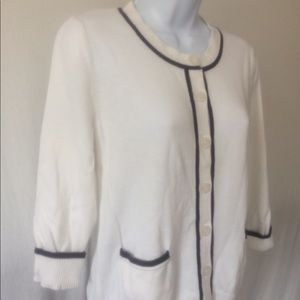 Croft & Barrow white dressy sweater size medium
